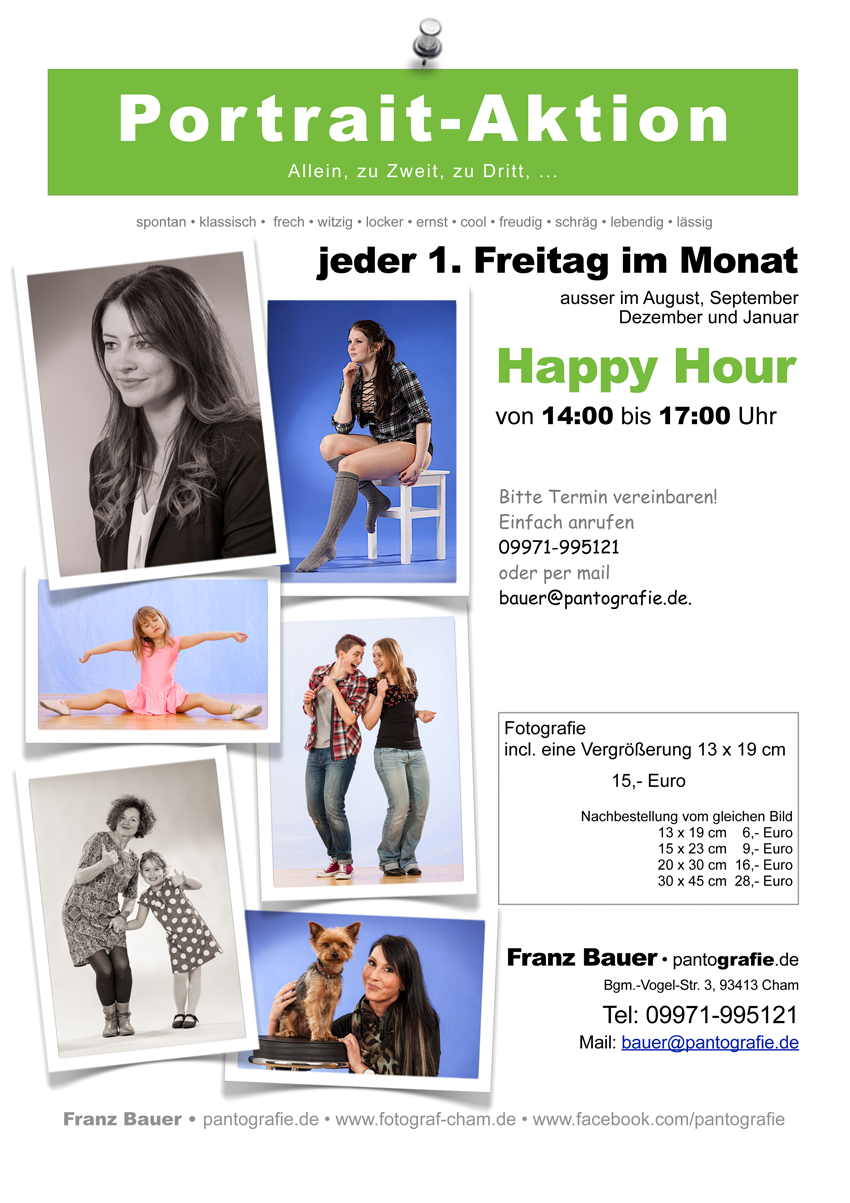 Portrait Aktion Happy Hour